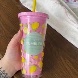 NWT Sunnylife Lemon Tumbler